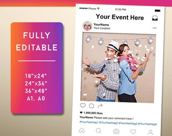 Instagram Etsy - Instagram cut out template