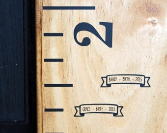 Height Marker for Growth Chart Ruler - Mini Banner - Measuring Mark