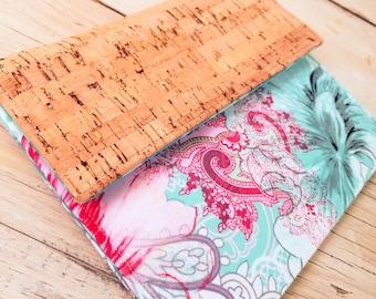 Kindle Cover, Kindle Case, Cork Kindle Case, Nook Cover,  Kindle Oaisis Sleeve, Custom Kindle Paperwhite Case vegan cork in Ocean Breeze