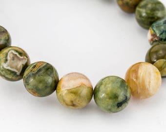 6mm Rhyolite Polished Round Bead (31 Pcs)