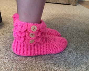 Button up baby booties