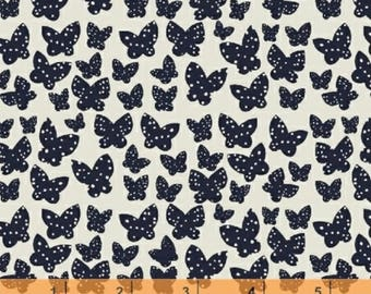 Lilla - Butterflies Black Natural by Lotta Jansdotter from Windham Fabrics