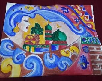 Ancient babylon painting