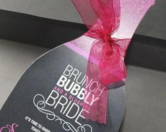 Wine Bridal Shower Invitation   Wine Themed Invitation   Wine Party Invite   Champagne Brunch Invite   Bachelorette Invite