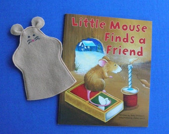 Mouse Hand Puppet and Book Set / Mouse Puppet and Book