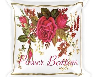 Fancy Power Bottom Decorative Pillow