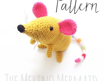 Martha the Mouse Amigurumi Crochet Toy Pattern PDF E-Book