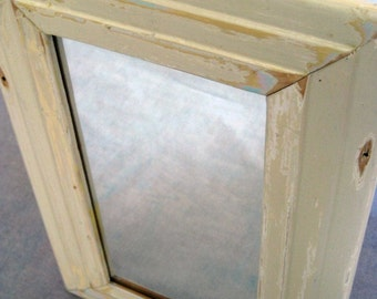 Reclaimed wood mirror by heidiBARKUNframes - De Cambrai Collection (deC18)