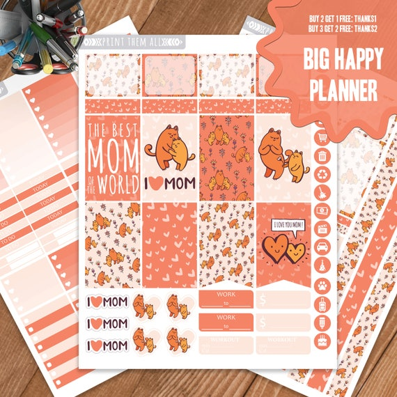 mother 39 s day planner stickers printable big happy planner. Black Bedroom Furniture Sets. Home Design Ideas