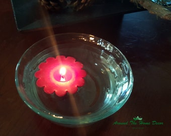 All Natural Soy Floating Candles 4 pack