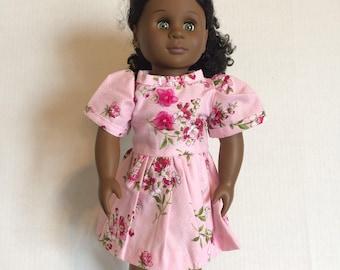 Pink flower doll dress
