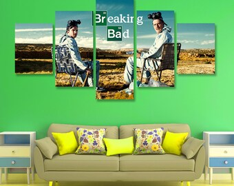 Breaking Bad Poster set Breaking Bad Wall Art Heisenberg Canvas Art Wall Decor, 5 pieces set, Birthday Gift, Home Decoration, room, bedroom