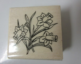 Easter Stamps-Easter Decor-Daffodils Easter Stamp
