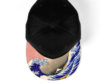 Great wave off Kanagawa snapback hat, baseball hat, cap 7M004
