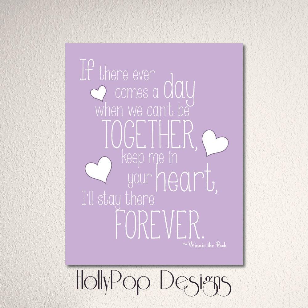 Children\'s Art Print Purple lavender Typography Print