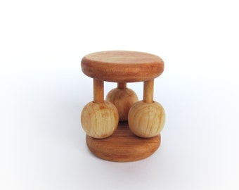 Gift for baby - Baby Rattle Toy - Wooden Toy - Eco Friendly Wooden Rattle - Organic Baby Toy