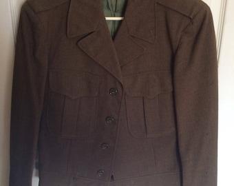 Vintage 1950s Wool Eisenhower Jacket