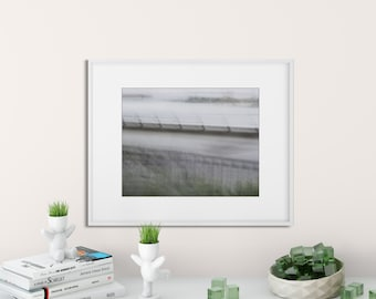 Impressionist Photo | River Print | Abstract River Photo | Green | Gray