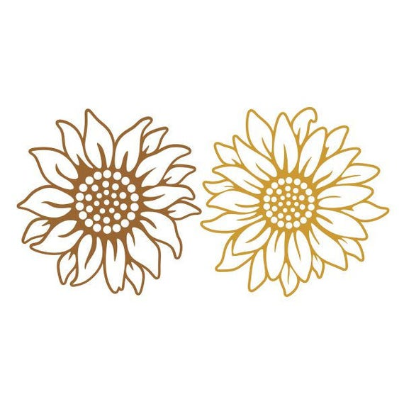 Download Sun Flowers Sunflower Cuttable Design SVG PNG DXF & eps