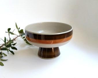 ANNIKA Rörstrand Sweden - serving dish, footed bowl - Marianne Westman - vintage retro - Scandinavian mid century design '70s