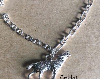 Wolf Anklet Bracelet