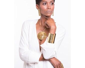 Clip on earrings, brass earrings, minimalist earrings, tribal earrings, african earrings, Boho earrings, ethnic earring, minimalist earrings