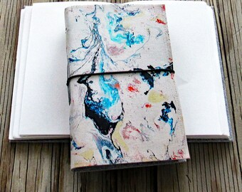 Flow 2 Journal - original art cover for travel vacation life plan journaling - tremundo