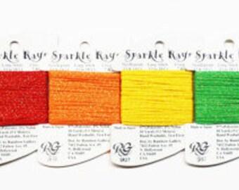 Sparkle Rays Thread 4.20 Each, Rainbow Gallery Sparkle Rays Thread, Petite Sparkle Rays Thread, Sparkle Rays Yarn, Sparkle Rays Metallic