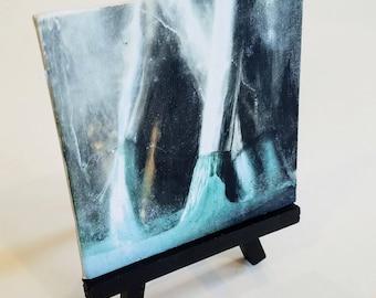 4x4 Mini - Acrylic Painting on Canvas- Paintbrushes / Art
