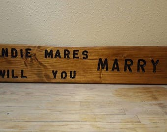 Handmade carved signs