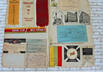 Shriners Scrapbook Ephemera - Lulu Temple - Shrine Club Of Philadelphia - 1925