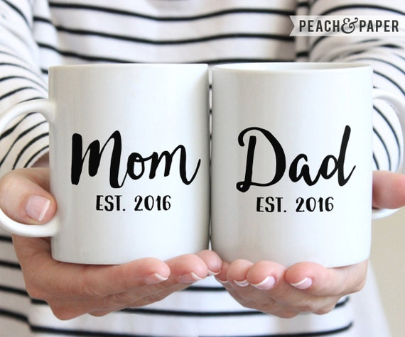 New Parents Coffee Mug Set
