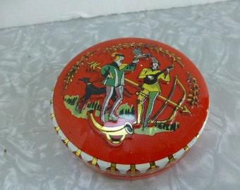 Red Robin Hood Tin Tiny Metal 3 Inch Candy Lozenge