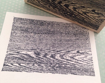 Faux Wood Grain Rubber Stamp 1550