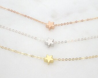 Dainty Star Necklace, Star pendant, Gift for her