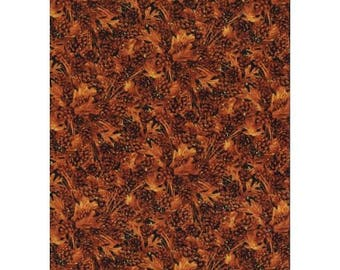 patchwork fabric autumn leaves 912woods