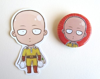 One Punch Man Badges and Stickers