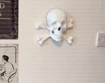 Skull and crossbones, Jolly Roger Aaaargh, Piracy - 3D Printed