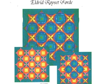 Eldrid Royset Forder Designer Kameleonquilt No 1 Night and Day 1999 Free Us Ship Quilt Craft Sewing Pattern