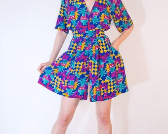 COLORFUL PRINT ROMPER