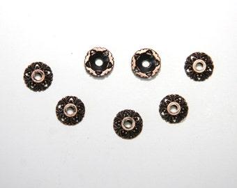 25 PCs Bead Caps / 10mm / copper tone   PK041
