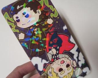 SALE avengers thor and loki prism bookmark