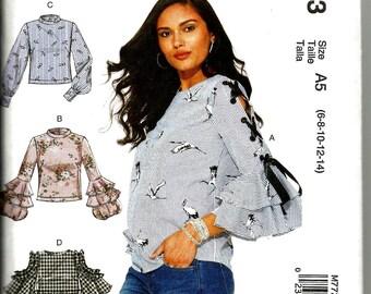 McCalls 7723 new uncut size 6 - 14 womans blouse