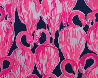 "high tide navy via amor dobby cotton fabric square 18""x18"" ~ lilly spring 2018 ~ lilly pulitzer"