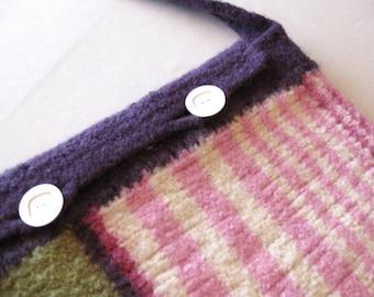 Striped Messenger Bag