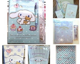 RESEREVED FOR BLUEMIST99: 2018 New Cinnamoroll gold top mechanical pencil, matching multicolor pen pencil, memo pads, notebooks, file folder