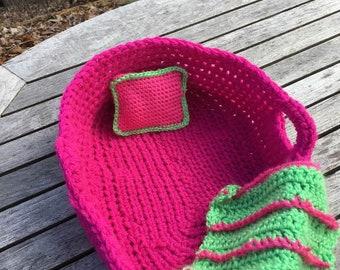 Baby Doll bed/Cradle Crochet