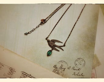 Spring Swallow necklace