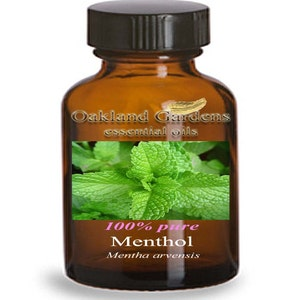 15 mL x  MENTHOL - 100% PURE Therapeutic Grade Essential Oil - Menthol used as a flavoring for centuries