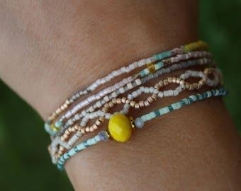 Seed Bead Bracelets (Set of Five)